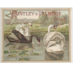 CHROMOS - HUNTLEY & PALMERS - Biscuits - Reading & Londres - Cygnes(Ref : #0187386490)