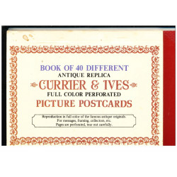 BOOK OF 40 DIFFERENT CURRIER et IVES (Ref : LOT 1)