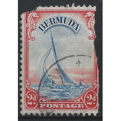 Bermudes - 1934-41 - Y & T n° 107 - Yacht Lucie - O. - Timbres