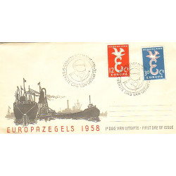 Pays-Bas 1958  Y&T  691/92  sur FDC  Europa