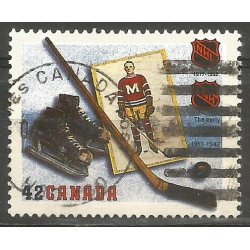 Canada - 1992 - Y&T n° 1280 - Obli. - Ligue nationale de Hockey - Les débuts (1917-1942) --- Thiziri