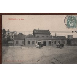 59 - FOURMIES - La Gare ( Attelages )