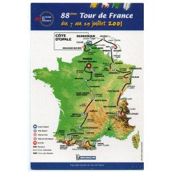 CPM Tour de France 2001 / Ecrire aux coureurs  / Neuves  / lot 14/09
